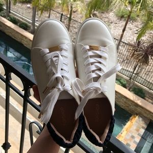 Topshop White Leather Shoes